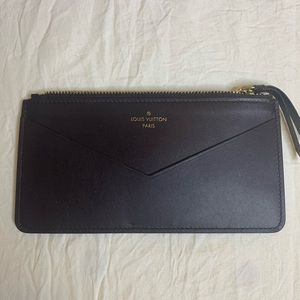 Louis Vuitton Amarante Leather Cord Colin Pouch